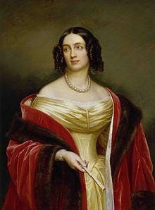 Die Ehefrau: Elisabeth Ludovika von Bayern, Ölgemälde von Joseph Karl Stieler nach Robert Bussler (1843) (Quelle: Wikimedia)