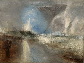 Clark Art Institute - J. M. W. Turner, Flares in High Seas, c. 1840