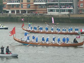 Thames Diamond Jubilee Pageant - Gondolas in the parade