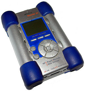 MP4 player - The Archos Jukebox Recorder 2, a portable media player