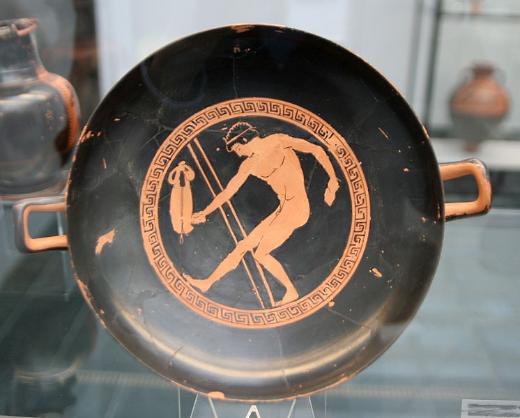 Painting of Long Jumper On Kylix (Cup)