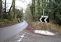 Junction of country lanes near East Meon - geograph.org.uk - 346208.jpg
