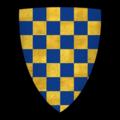 "K-017-Coat of Arms-WARENNE-John de Warenne, Earl of Surrey (""Johans, li bons quens de Warenne"").png"