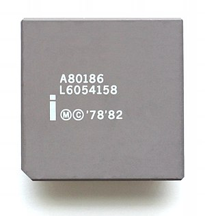 Intel 80186 - An Intel 80186 Microprocessor