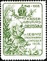 Kaiser-Jubiläums-Obstschau Leibnitz 1908 Vignette grün.jpg