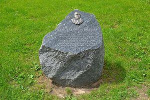 Samuel Orgelbrand - Commemorative stone in Orgelbrand Square