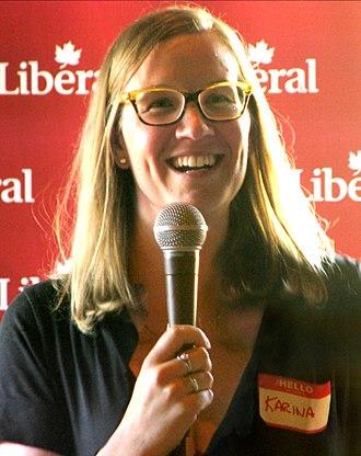 Karina Gould - Image: Karina Gould, LPC MPP for Burlington, Minister Of Democratic Institutions