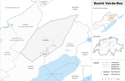 Location of Val-de-Ruz District