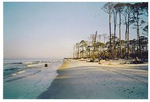 Hurricane Katrina Left Most Of Cape San Blas S Beaches Severely Damaged The South Point Has Experienced Extreme Erosion Where Lighthouses Have