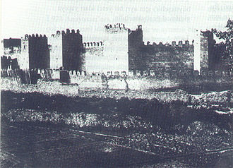 Kayseri Castle - A photograph of the castle from 1897