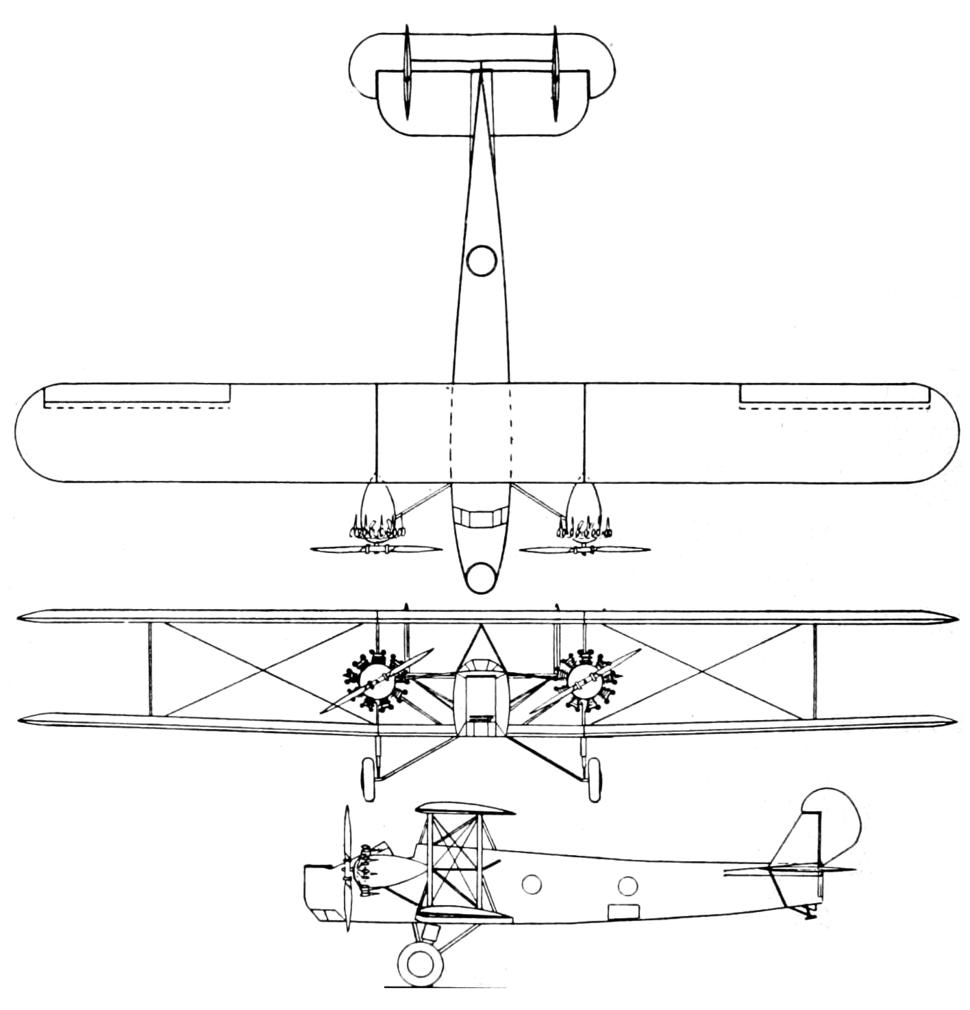 Keystone Panther 3-view Aero Digest July 1928