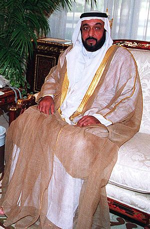 The current ruler of Abu Dhabi, Sheikh Khalifa...