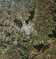 Kharkiv, Ukraine, city and vicinities, LandSat-5 satellite image, near natural colors, 2011-06-18.jpg