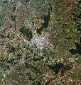 Kharkiv, Ukraine, city and vicinities, LandSat-5 satellite image, near natural colors, 2011-06-18.jpg