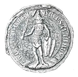 Kęstutis - Kęstutis seal from 1379