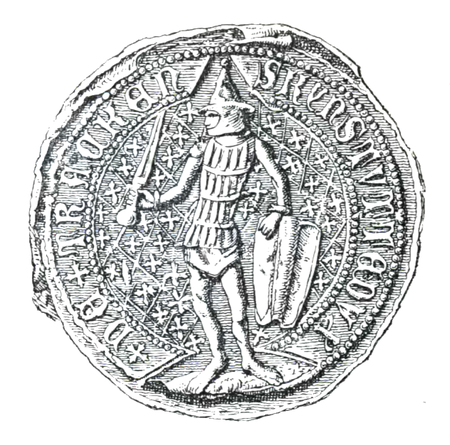 Seal of Kestutis Kiejstut seal 1379.PNG