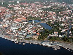 aerial photo of the city of Kiel, GermanyDieses Bild als mit der Maus erkundbare Grafik sehen