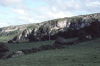 """Kilcorney, County Clare - Cliff with the """"Cave of the Wild Horses"""""""