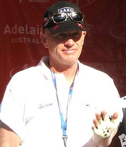 Andersen alla presentazione del Tour Down Under 2009