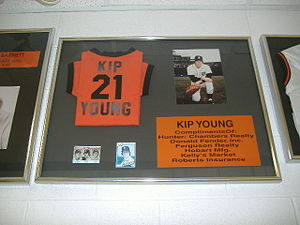Kip Young - Retired number and jersey of Kip Young at Whiteoak High School in Mowrystown, Ohio.