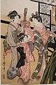 Kitagawa Utamaro. Court woman admiring cherry blossoms (detail).jpg