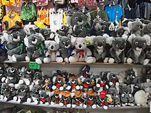 Koala souvenir soft toys
