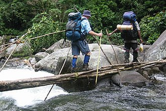 Kokoda Track - Crossing Eora Creek on the Kokoda Track