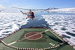 "Konvers-Avia Mil Mi-2 (RA-15687) landing on the nuclear icebreaker ""50 Years of Victory"".jpg"