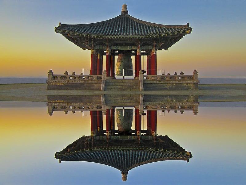 Korean Bell of Friendship in Angel's Gate Park, San Pedro, California.
