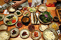Korean food-Bibim ssambap and various banchan-01.jpg