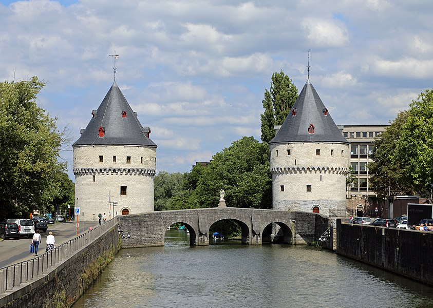 Kortrijk (Belgium): Broel Towers and Broel Bridge