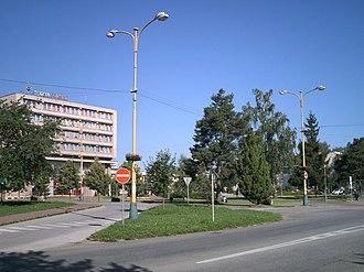 Šaca - Central square in Šaca