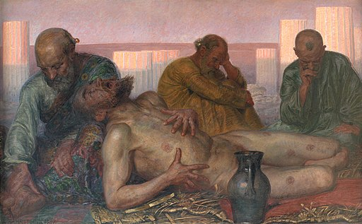 Kristian Zahrtmann - Job and His Friends - KMS1661 - Statens Museum for Kunst
