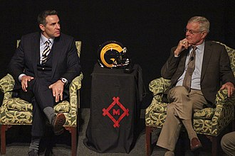 Dick Vermeil - Vermeil (Right) along with Kurt Warner, 2014.