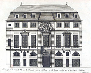 Hôtel de Beauvais - Engraving of the hôtel de Beauvais from Jean Marot's L'Architecture française