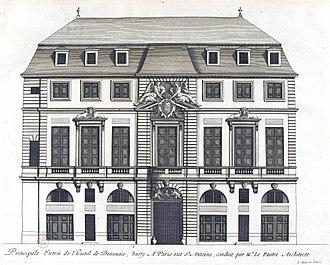 Hôtel de Beauvais - Engraving of the hôtel de Beauvais from Jean Marot's L'Architecture française