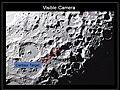 LCROSS Aufnahme Zielgebiet Centaur im Cabeus Krater VIS.jpg