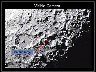 Cabeus (crater) - Target area of the Centaur rocket at Cabeus crater.