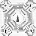 Labyrinthe Gaucher Jean Lou Jean d'Orbais Bernard de Soissons dessin jacques Cellier XVIe html m7e77111d.jpg