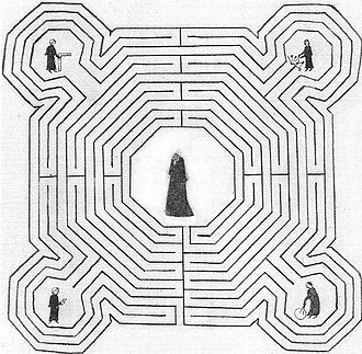 Jean d'Orbais - Orbais shown top right of the labyrinth