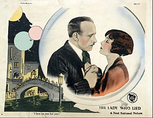 The Lady Who Lied - Lobby card