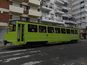 La Brugeoise cars (Buenos Aires Underground) - Some cars were refurbished, such as this El Lagarto model used temporarily on the Premetro.