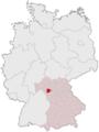 Lage des Landkreises Kitzingen in Deutschland.PNG