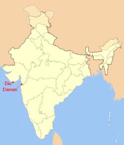 Vị trí của Huyện Daman