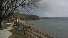 Lake Maxinkuckee beach at Culver.jpg
