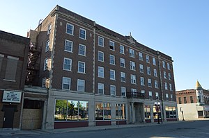 National Register of Historic Places listings in McDonough County, Illinois - Image: Lamoine Hotel