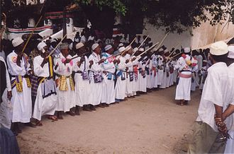 Politics of Kenya - A political parade in Lamu, held in July 2001