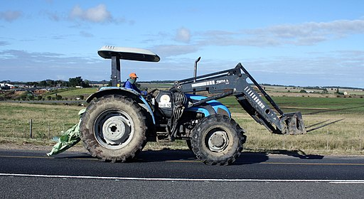 Landini tractor with fork attachment (18770125180)