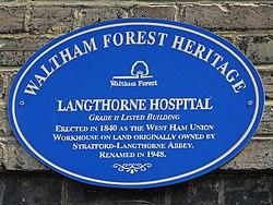 Langthorne hospital (waltham forest heritage)
