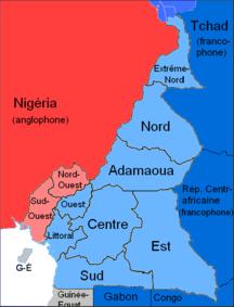 Camerun-Lingue-Langues du Cameroun Carte
